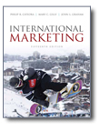 Image of book, International Marketing, a marketing textbook wrtten by Philip R. Cateora, Mary C. Gilly, and John L. Graham